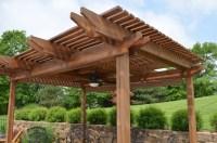 Outdoor Patio Wooden Brown Pergola Design In Patio ...