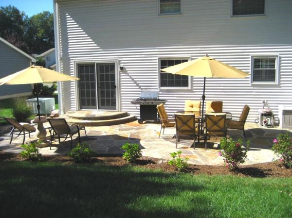 creative flagstone patio installation