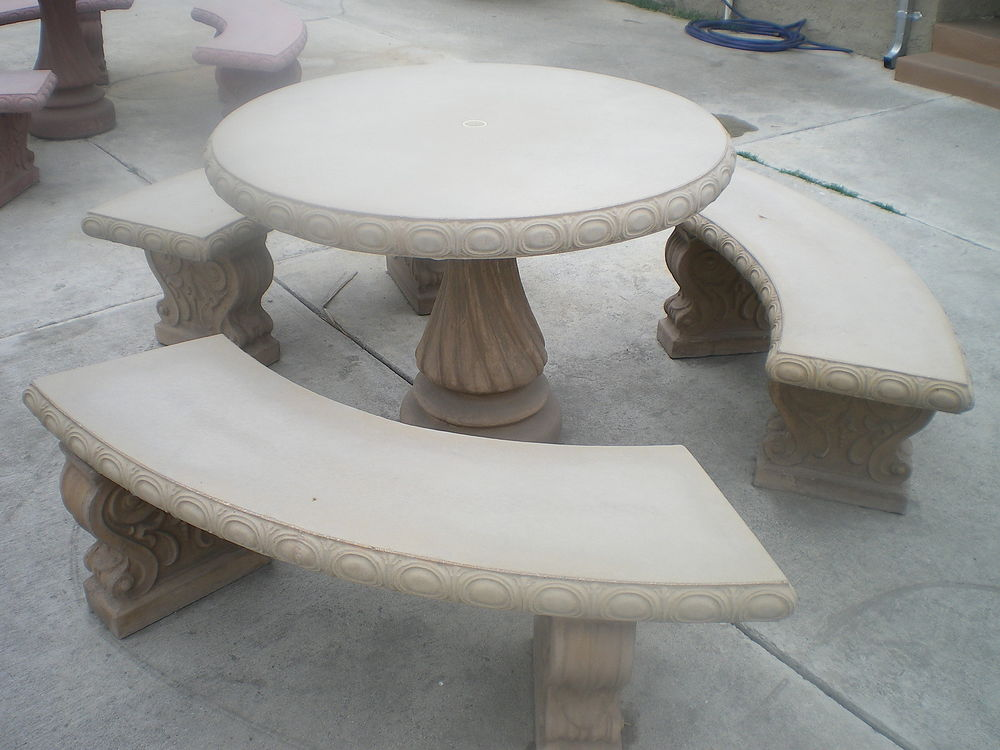 amazing outdoor concrete furniture and