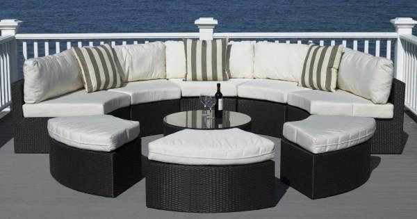 round outdoor wicker patio furniture set Best Round Patio Furniture With Home All Weather Wicker