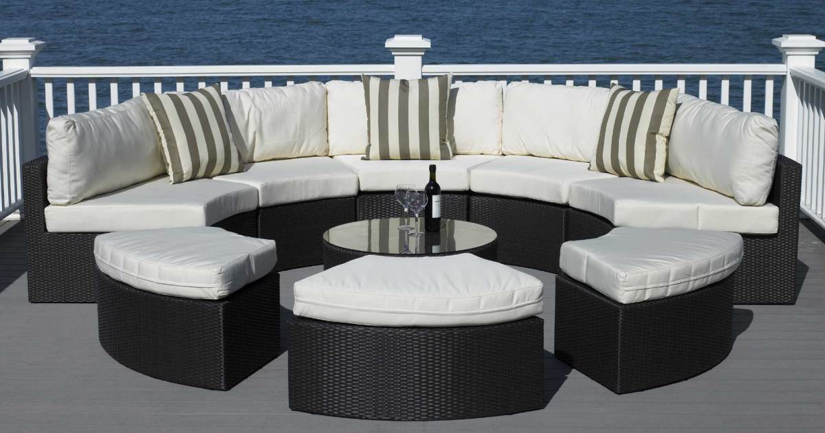 Best Round Patio Furniture With Home All Weather Wicker