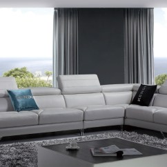 Divani Casa 5106 Modern White Italian Leather Sectional Sofa Toronto Best Furniture With Quebec