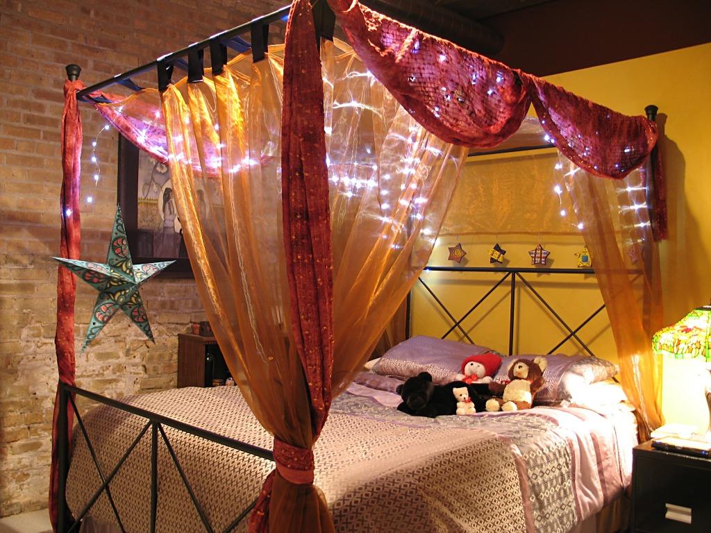 bedrooms elegant black iron canopy for