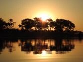 Sonnenuntergang im Okavango