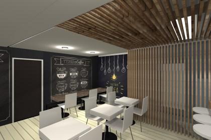 Projeto 3D para café em Mogadouro