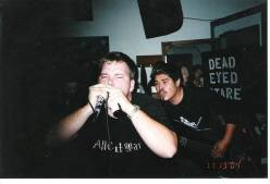 Fr. L: Derrick & Phillip. Blackwater Cafe. 2005