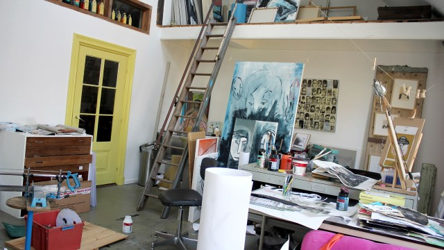 Blik in het atelier