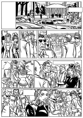 Splinter Het Album - p26 zwart-wit laagres - Morris en Zilverberg