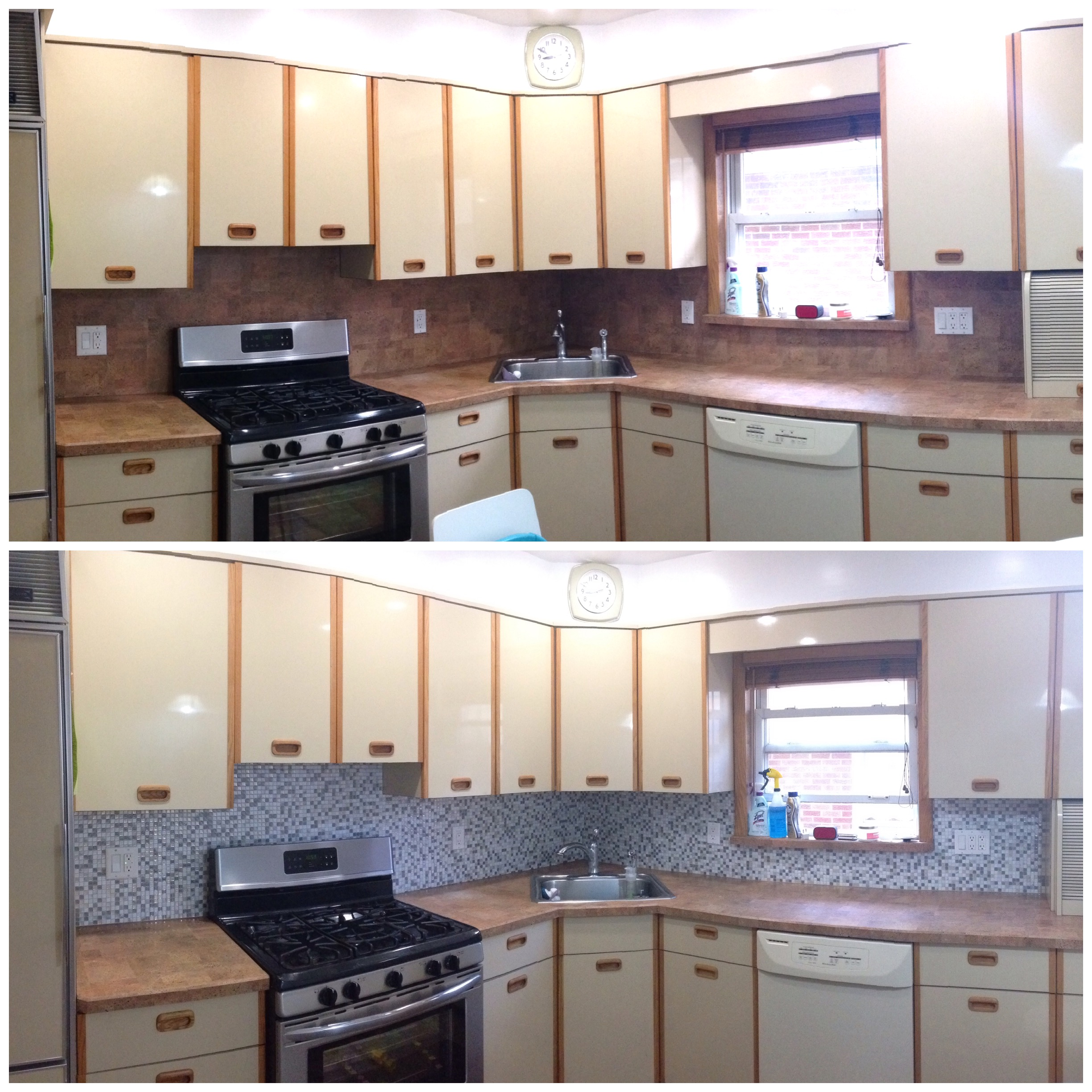kitchen facelift before and after wine rugs with stickers helen hou sandí