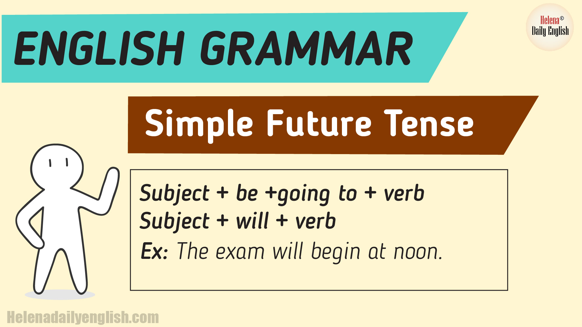 The Simple Future Tense Example Amp Explanation English