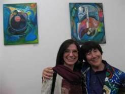 con Luise Buisman, directora de la galería