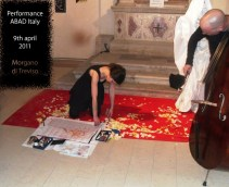 Performance with Fabien Sevilla, Artist Book Un Libro Sulla Morte, 2011©HelenaGath