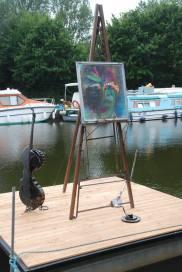 Sculpture L.Lavieville - Peinture Helena Gath