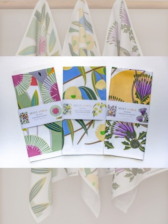 Helen Ansell Tea Towels set of 3