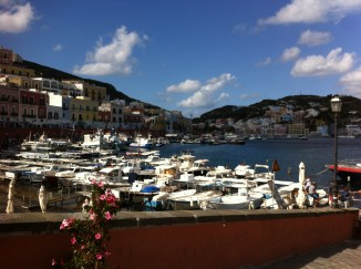 The harbour/sea-front at Ponza-island