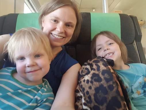 På tåget till Nyköping