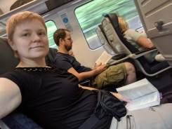 På tåget mot Bournemouth