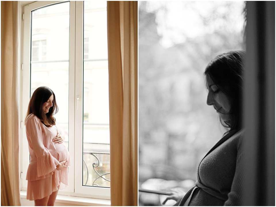 a mother's portrait during pregnancy photographed by connecticut nyc maternity and newborn photographer Helena Woods