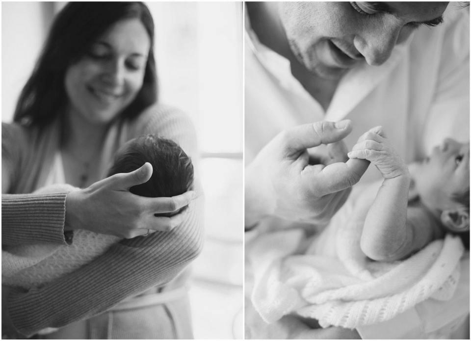 Connecticut family holding newborn baby fairfield county photographer