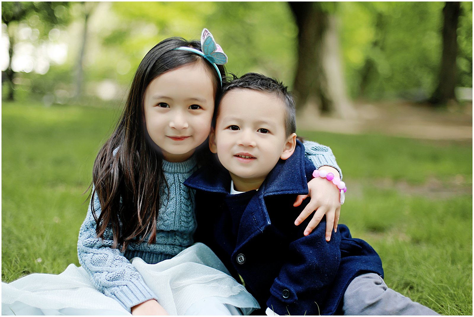 siblings photographed by childrens family photographer Helena Woods in New York NYC