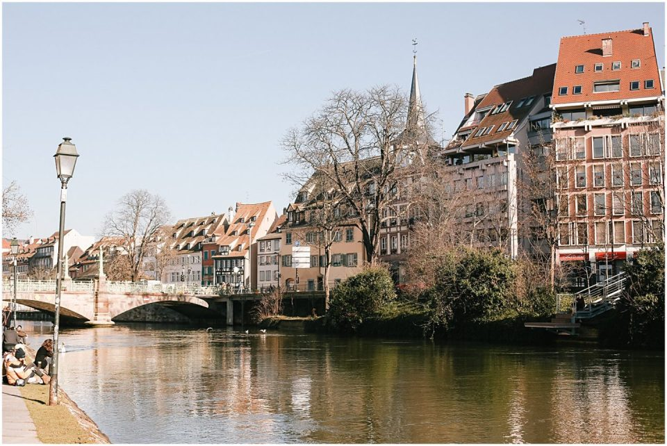 Petite France houses and river in Strasbourg Alsace France