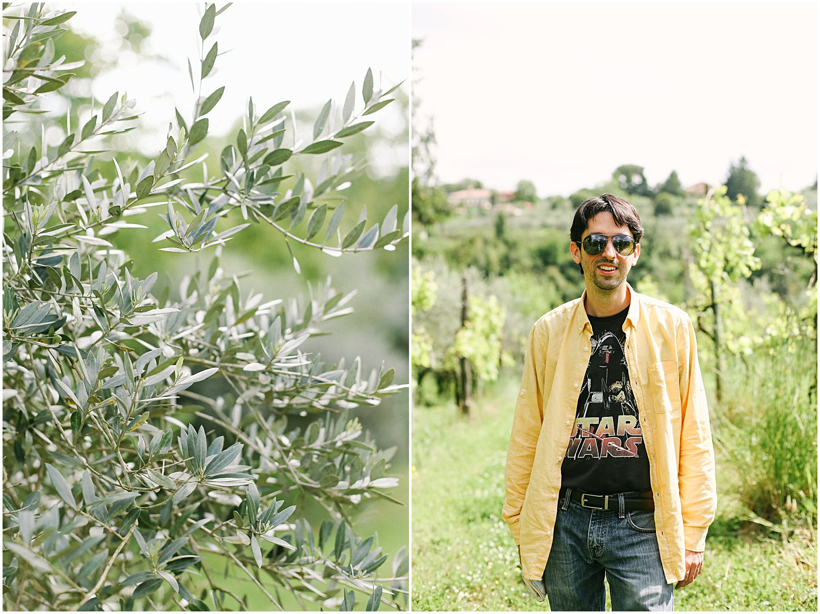 plants and portrait in vineyard of Zagarolo Italy
