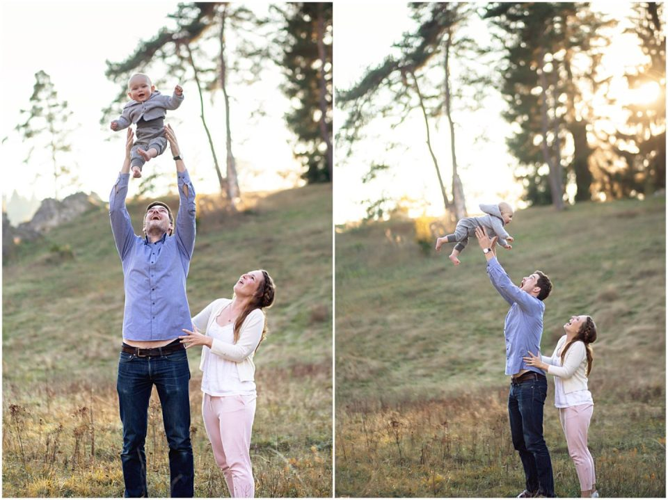 dad and mom throwing baby in air laughing connecticut photographer