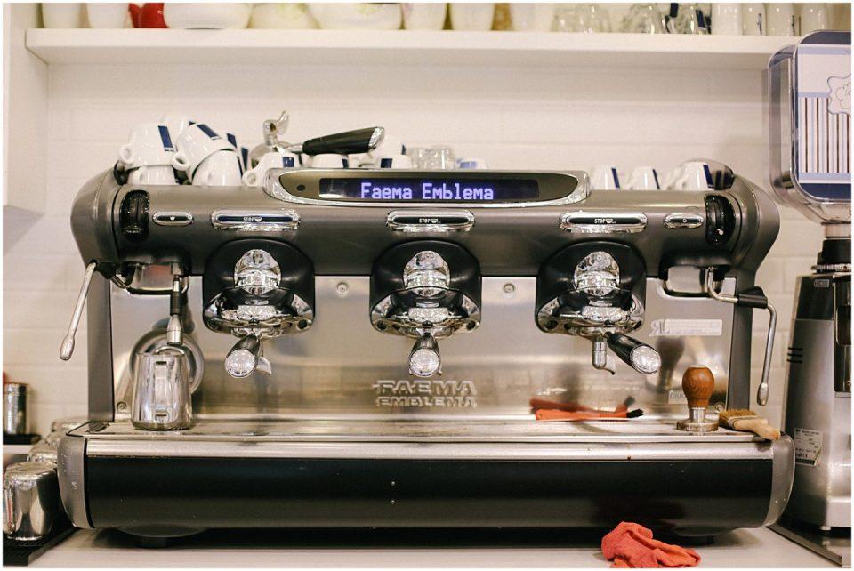 cappuccino machine in bari italy cafe