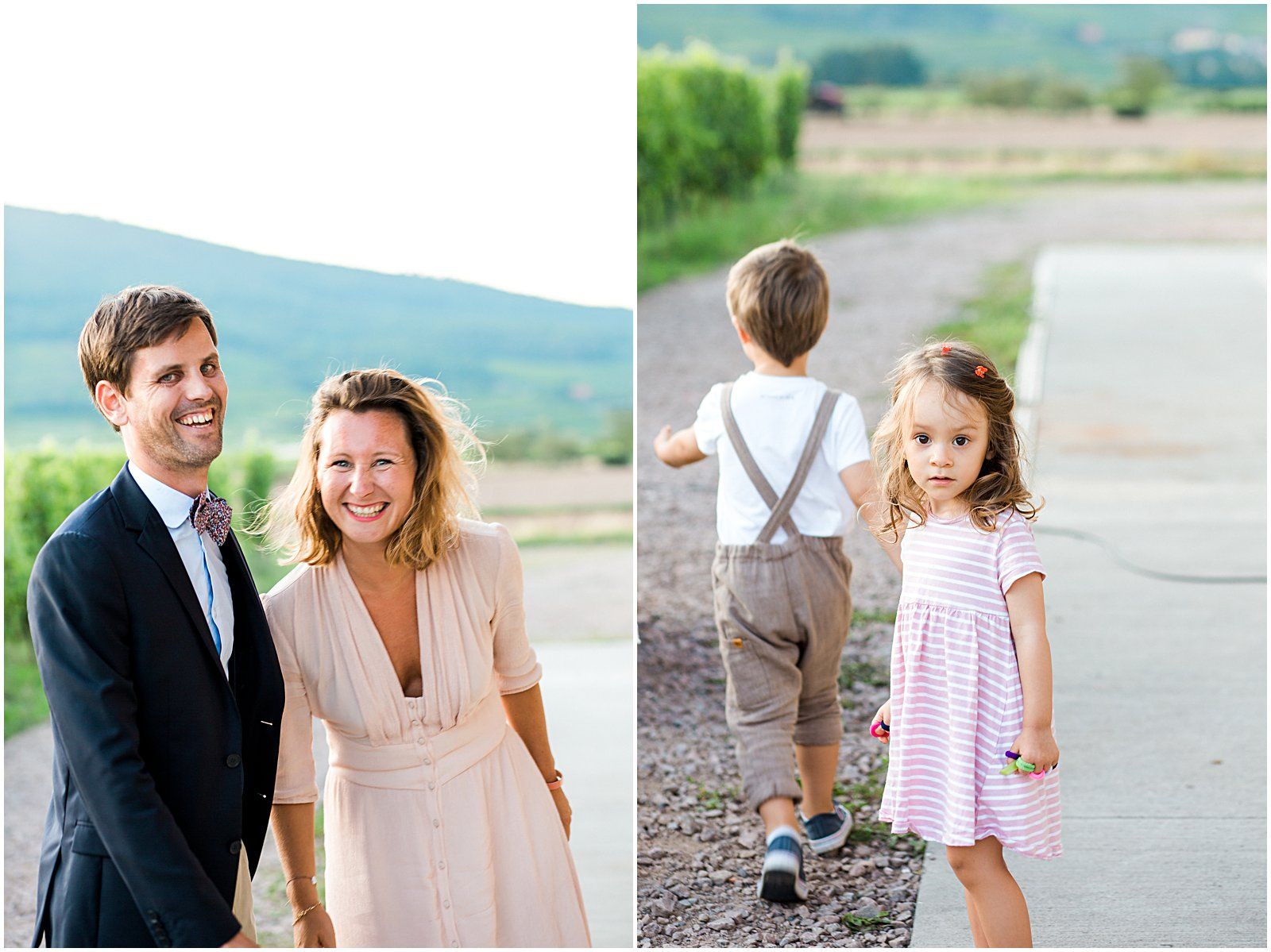 wedding guests and kids portraits in France by Helena Woods
