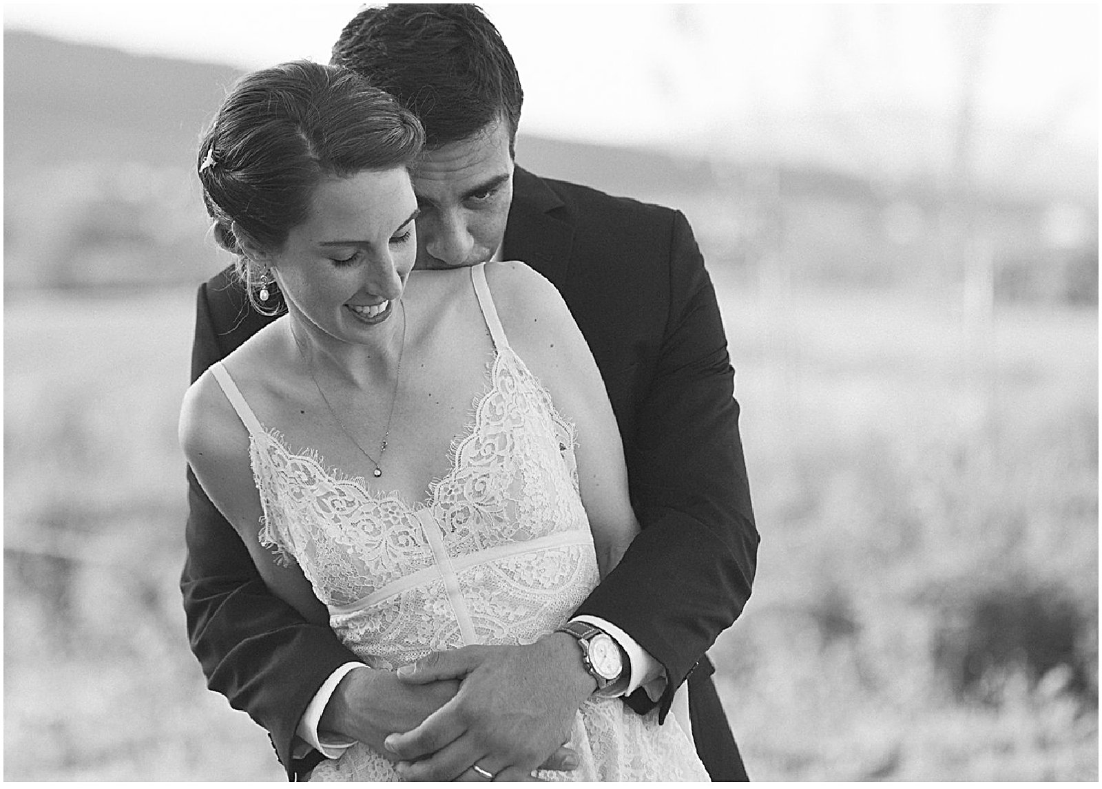 classic vintage portrait of wedding couple in Alsace France by destination wedding photographer Helena Woods