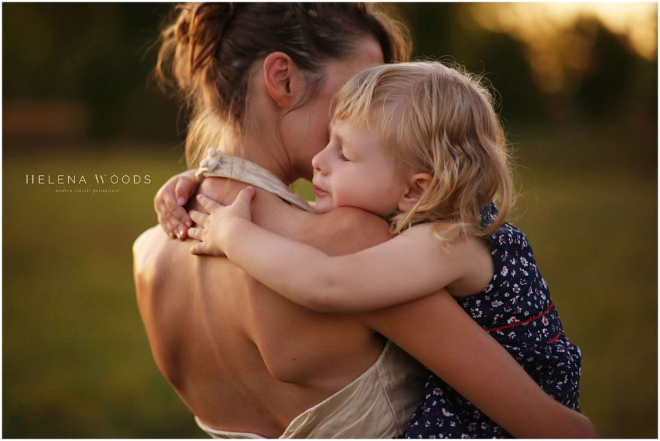 mother and child hugging photographed by Darien Connecticut family photographer Helena Woods