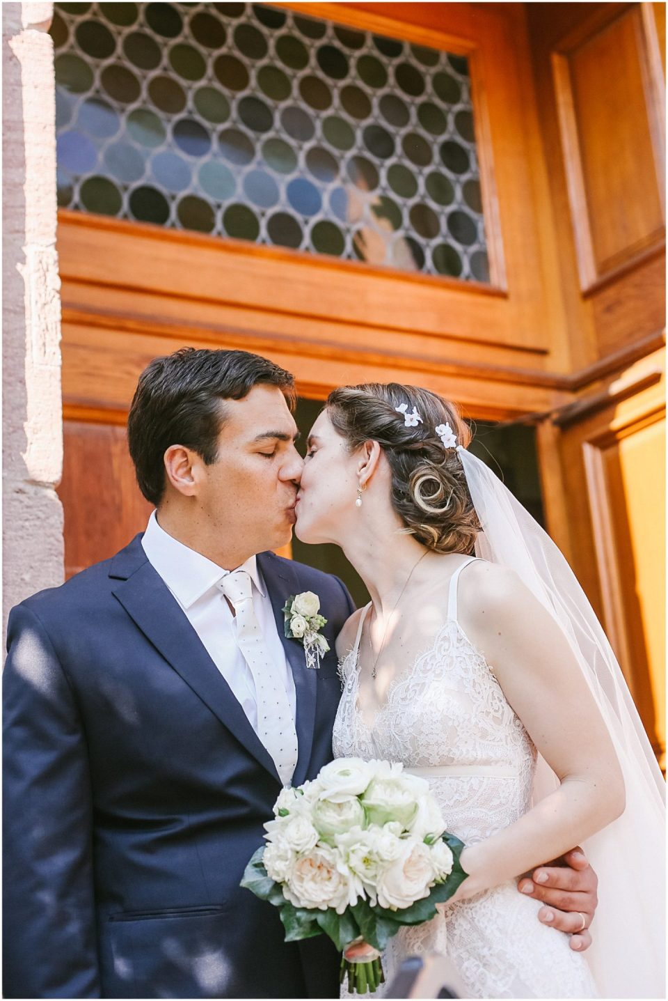 Wedding at Wattwiller Church Alsace France vineyards photographed by Helena Woods
