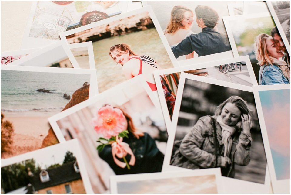 printed vintage polaroid photographs of Helena Woods