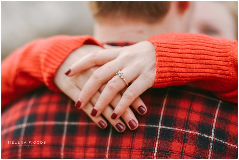 girl with engagement ring at christmas market in strasbourg france