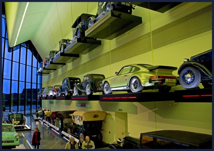 cars on wall