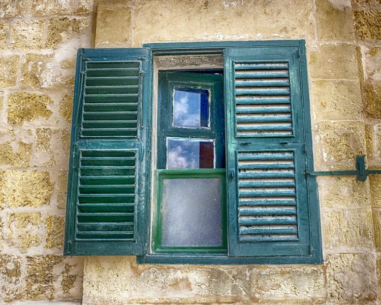 window green shutters malta valletta