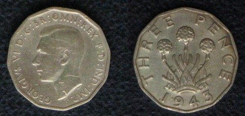 Threepenny bit 1943