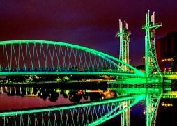 Millennium Bridge night colours night sky
