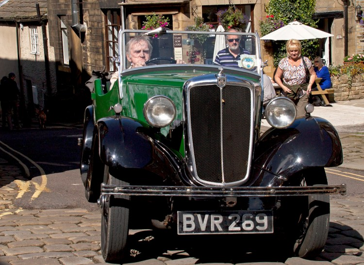 Vintage car in Haworth Yorkshire