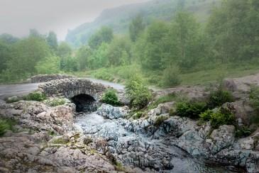 pure water Ashness Bridge Keswick Borrowdale Lake district Cumbria
