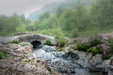 pure water Ashness Bridge Keswick Borrowdale Lake district Cumbria