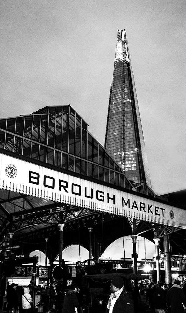 Borough Market & Shard LONDON uk