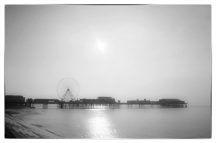 Distant Pier Blackpool seaside Lancashire