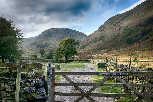 Please Close the Gate Borrowdale Cumbria Lake District