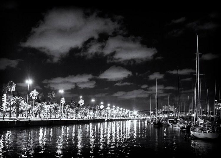 Barcelona Harbour Lights