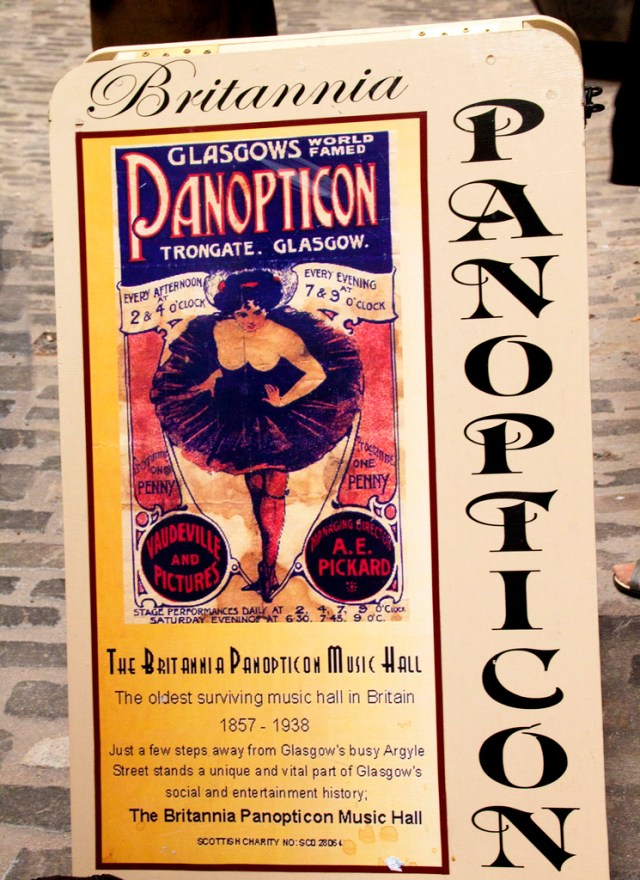 Panopticon Poster Britannia Music Hall Glasgow