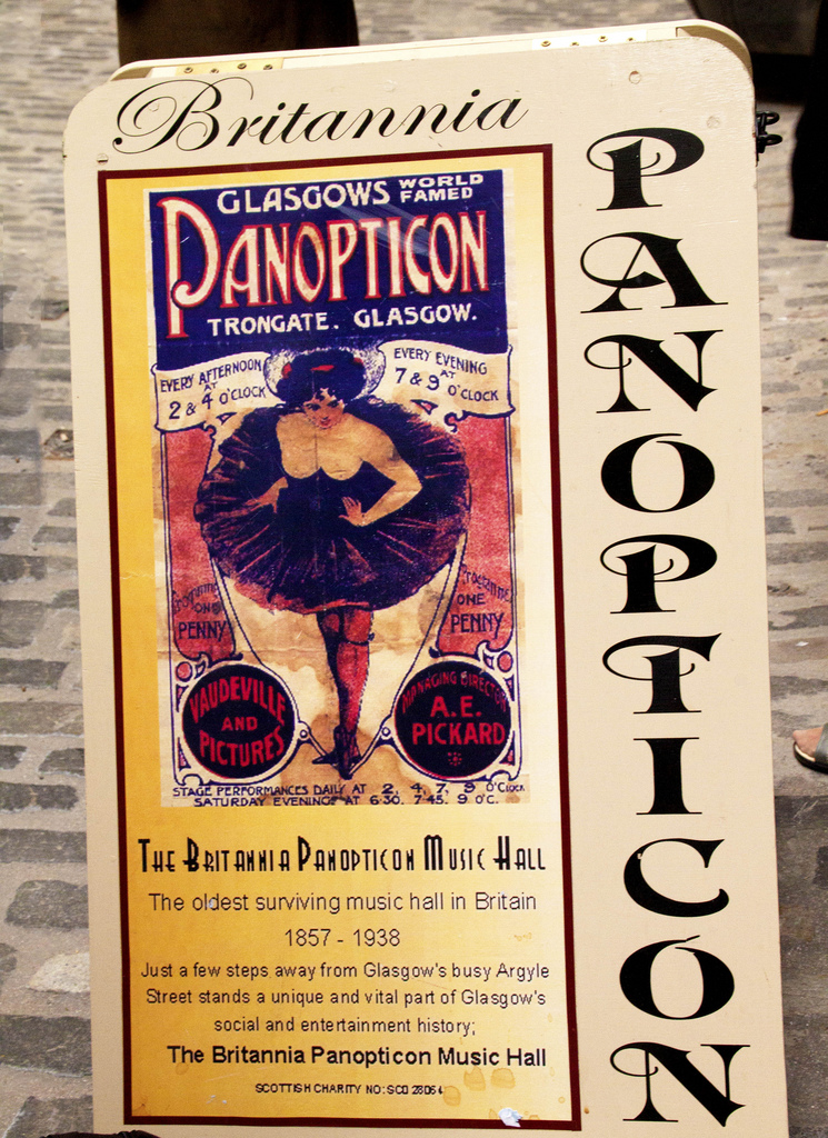 Panopticon Poster Britannia Music Hall Glasgow
