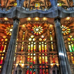 Colours Light stained glass Sagrada Familia