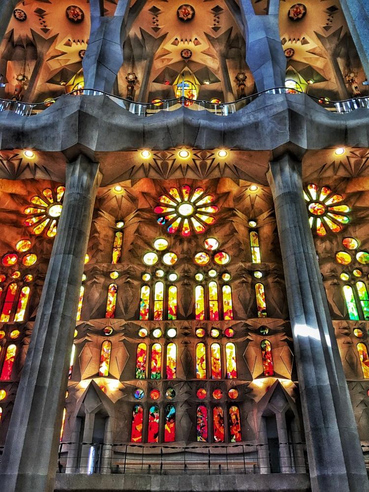 Coloured Light stained glass Sagrada Familia