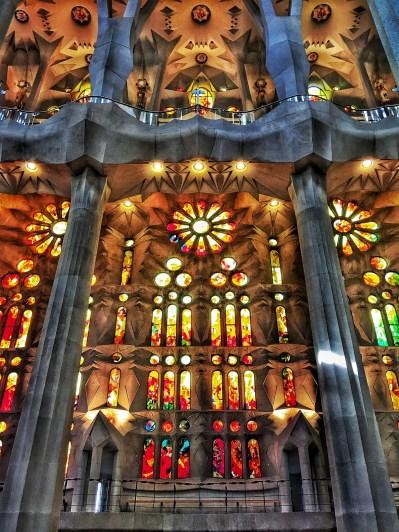 Colours Light stained glass Sagrada Familia